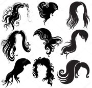 set of hair styling stock vector