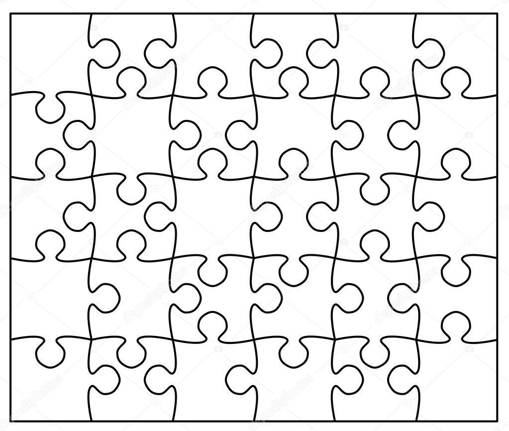 아름 다운 직소 퍼즐 — 스톡 벡터 © ericmilos #2007167