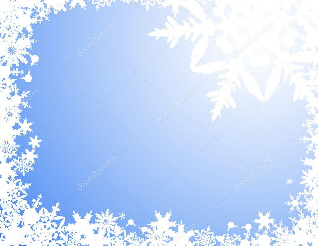 witte Sneeuwvlok achtergrond  Stockvector  alegria 1638742