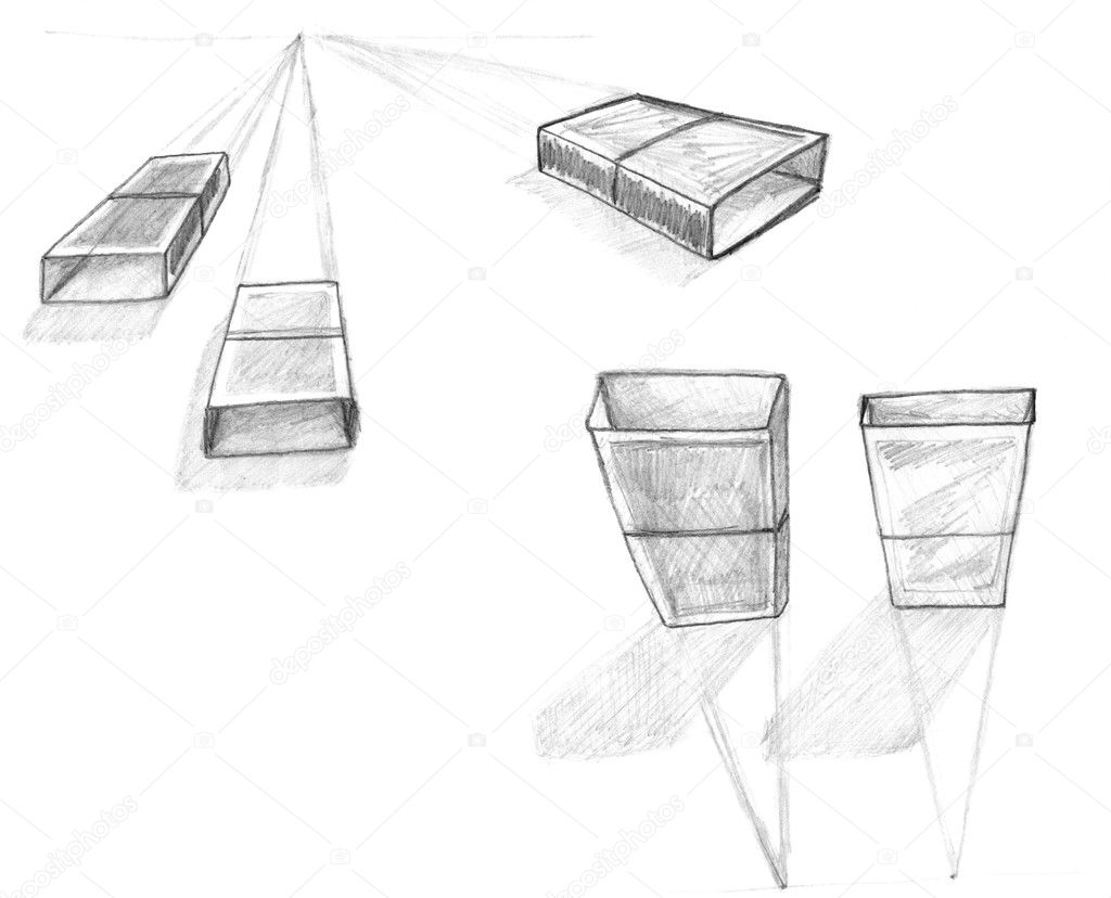 Geometry Perspective Drawing Sketch