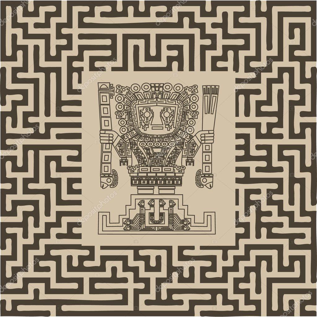Tatuajes Tribales Incas Vector Símbolos Tribales Maya E Inca En