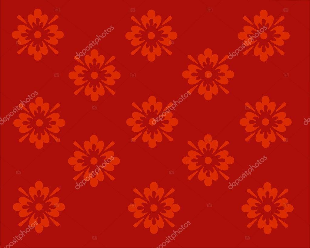 Rote Tapete Design