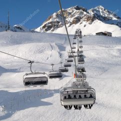 Ski Chair Lift Kitchen Covers Argos With Skiers Stock Photo C Exinocactus 1805025
