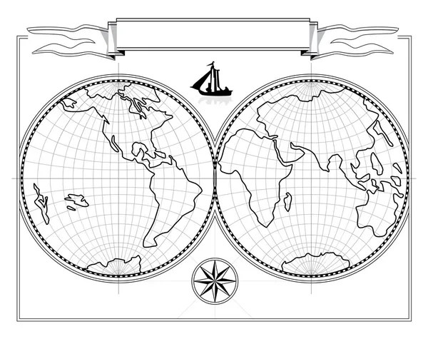 dos desenhos animados do planeta Terra — Vetor de Stock