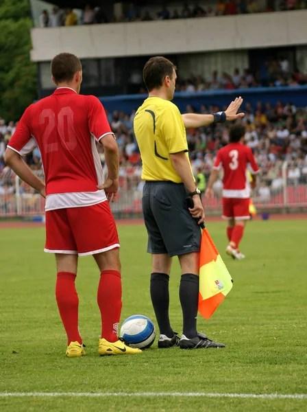 Wasit Sepakbola : wasit, sepakbola, Wasit, Sepakbola, Beraksi, Foto,, Gambar, Bebas, Royalti, Depositphotos®