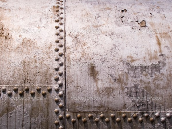 Old metal tank with rivets Stock Photo anzavru 1876873