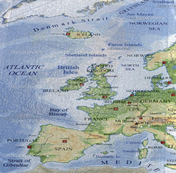 Map Of Europe With Oceans Imgurl