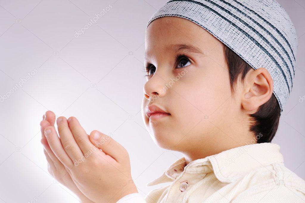 muslim little cute kid