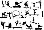 Gymnastics silhouette vector — Stock Vector © photos #11220478