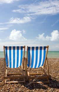Deck chairs at the seaside  Stock Photo  d50m10 #1948635