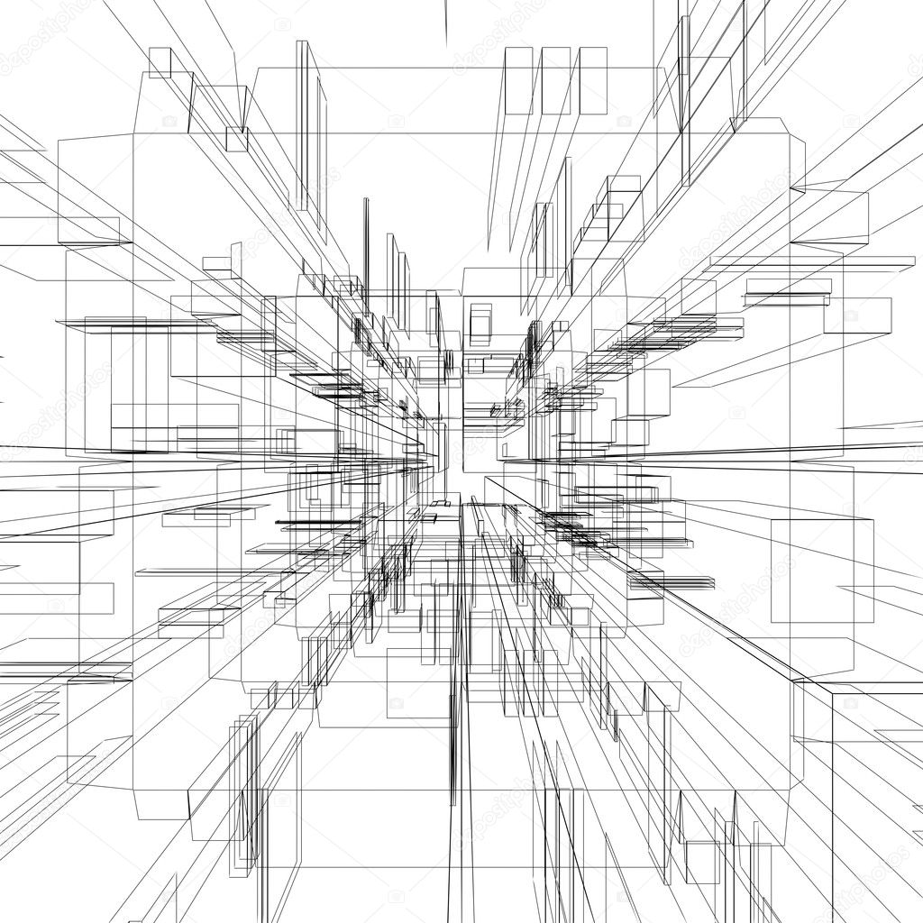 Abstract wireframe — Stock Photo © twistah #2043749