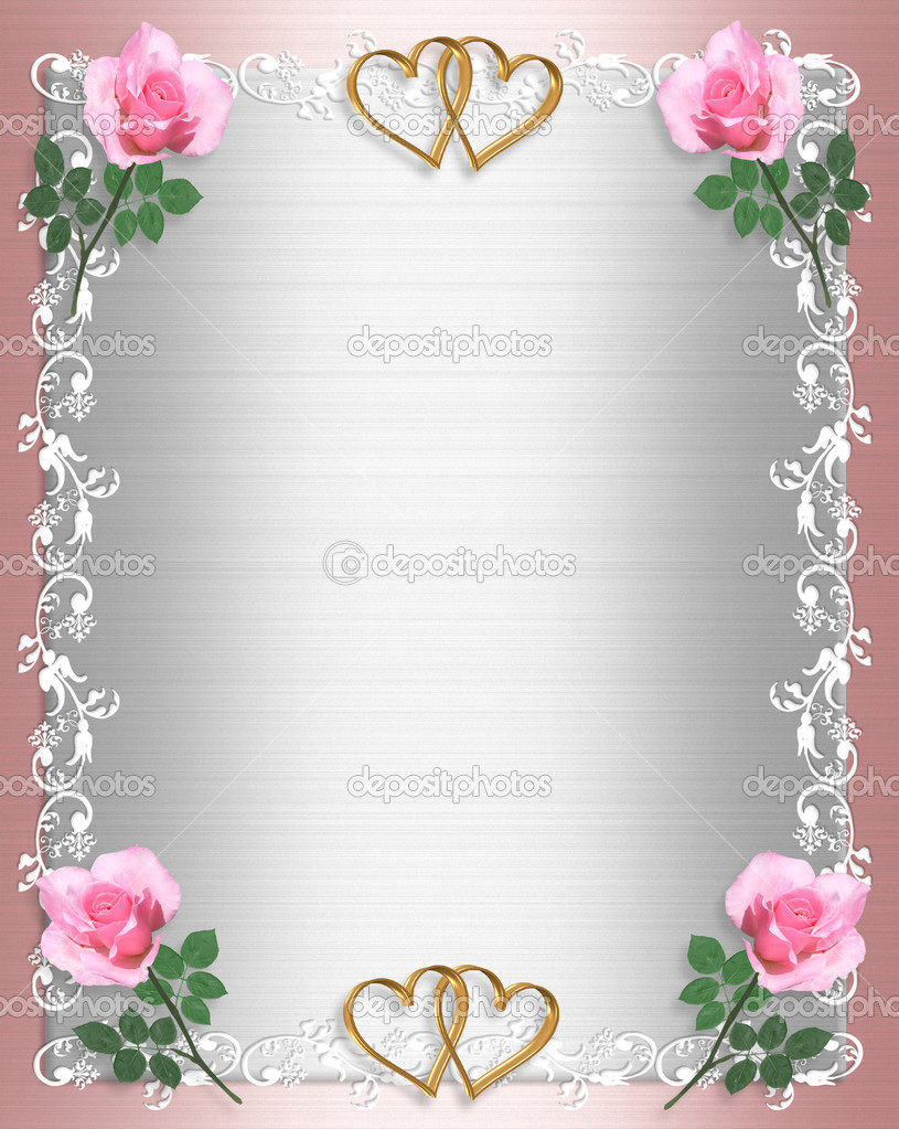 Image And Ilration Position Of Pink White Satin Shabby Chic Ornamental Border For Wedding Party Birthday Invitation Background Frame With Copy