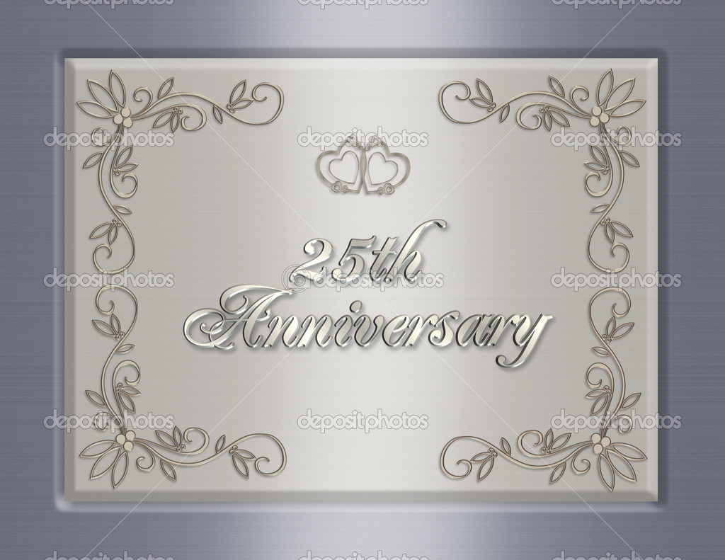 25th wedding anniversary invitation stock photo image by c irisangel 2313277