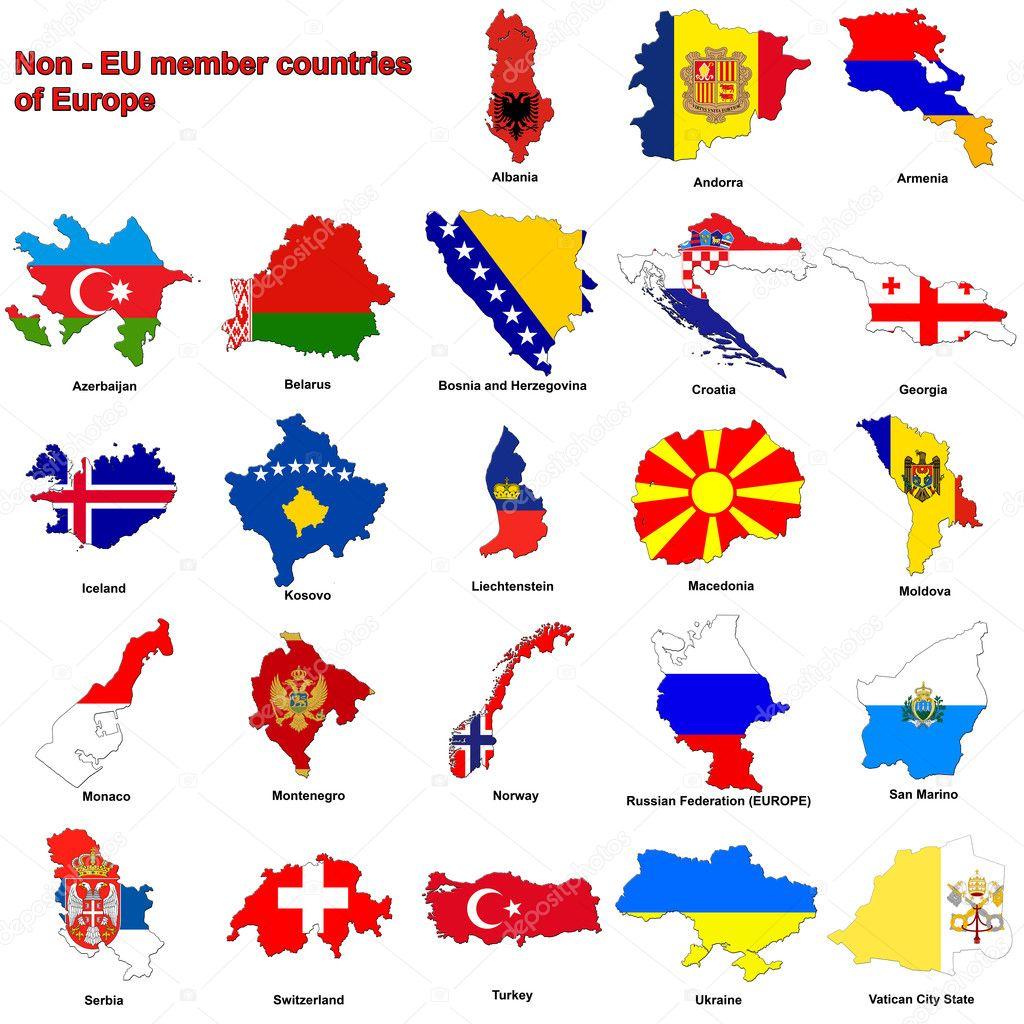 Pictures European Countries Flag Non