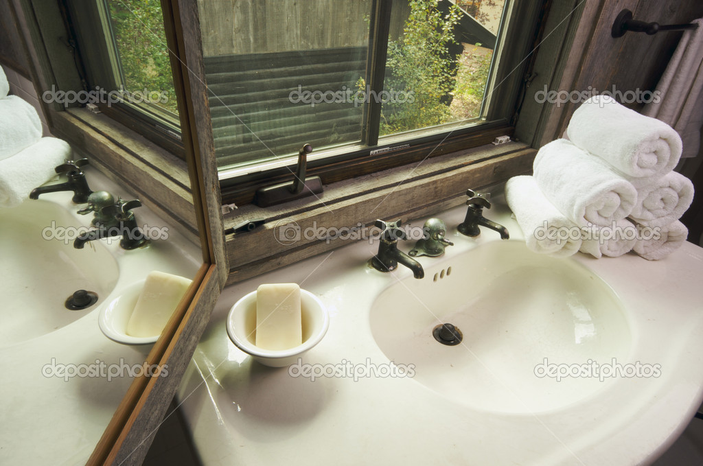 https depositphotos com 2361109 stock photo rustic bathroom sink and window html