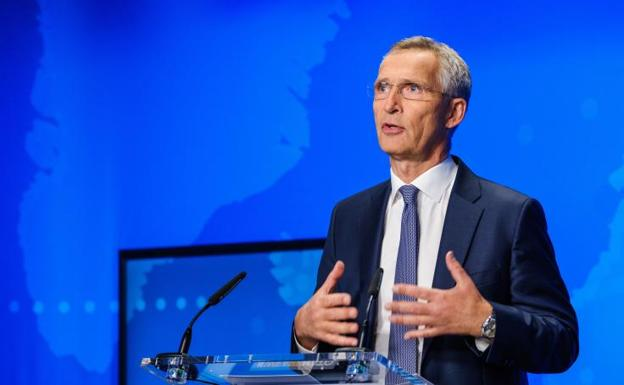 Jens Stoltenberg, Secretary General of NATO, during his appearance this Friday.