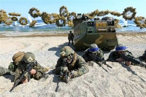 South Korea and the United States hold joint exercises