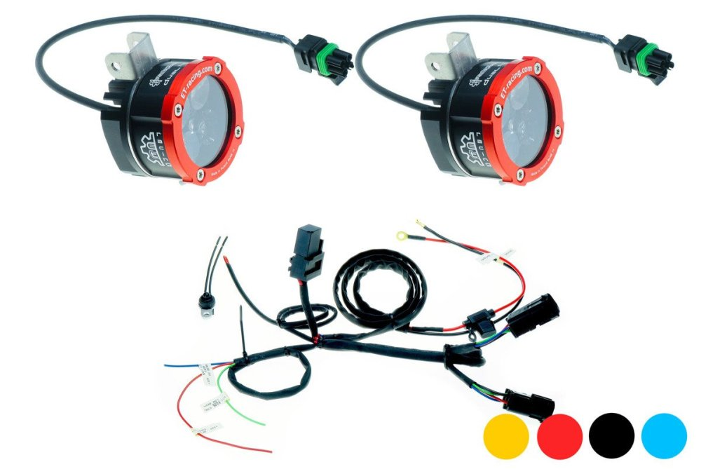 medium resolution of set 2x dual 4 with bmw halogen mount harness