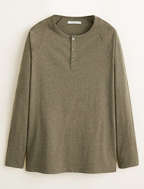 T-shirt en coton He By Mango Henley