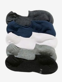 Lot de cinq paires de chaussettes invisibles