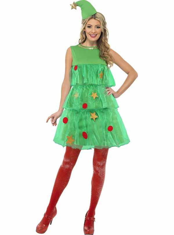 Christmas Tree Lady Adult Costume Online Funidelia