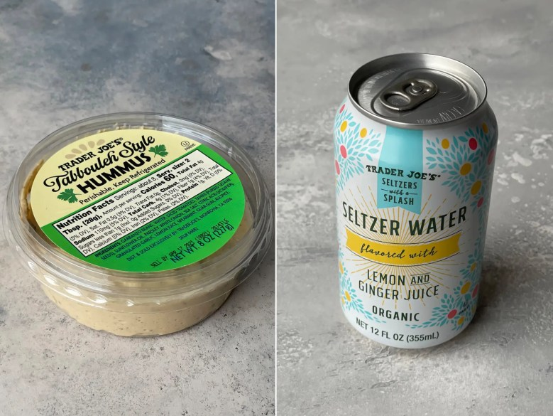 Seltzer Water and Hummus