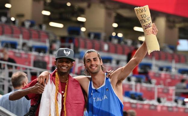 The Qatari Mutaz Essa Barshim and the Italian Gianmarco Tamberi.