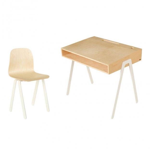 bureau et chaise junior 7 10 ans blanc