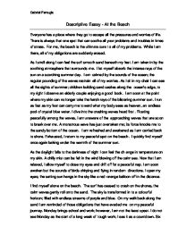 Descriptive Essay At The Beach A Level English Marked By Teachers Com