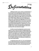 Deforestation Essay Deforestation And Its Impact On The Environment