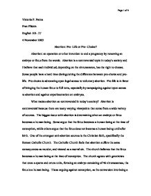 Abortion Essays Argumentative Essay On Abortion Pro Life Or Pro
