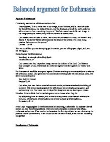Euthanasia Argumentative Essay Euthanasia Essays Argument Against