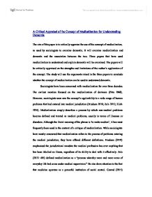Essay On Dementia A Critical Appraisal Of The Concept Of