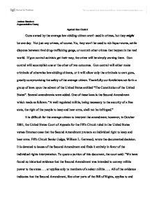 Gun Control Essay Persuasive Argument Essay On Gun Control Against