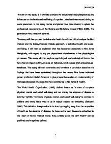 Mental Health Essay Mental Health Nursing Essays Dr Michael Lasala
