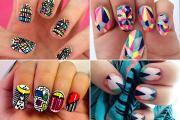 graphic nail art geometric patterns