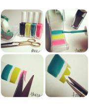 diy nail art stickers - make