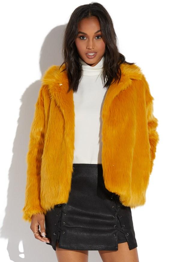 1c1cecaa4 Long Hair Faux Fur Coat - Year of Clean Water
