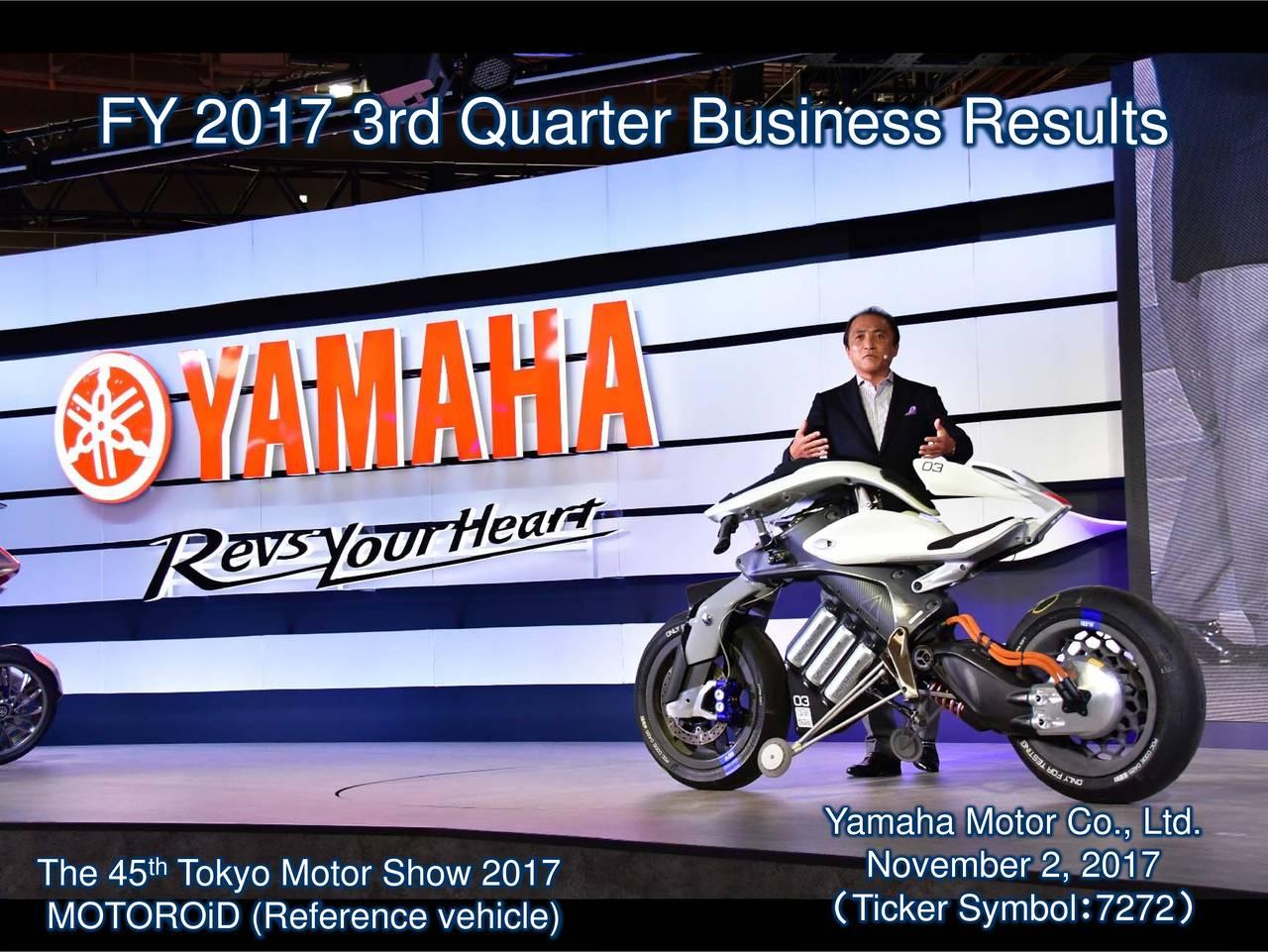 yamaha motor co ltd adr 2017 q3 results earnings call slides [ 1280 x 961 Pixel ]