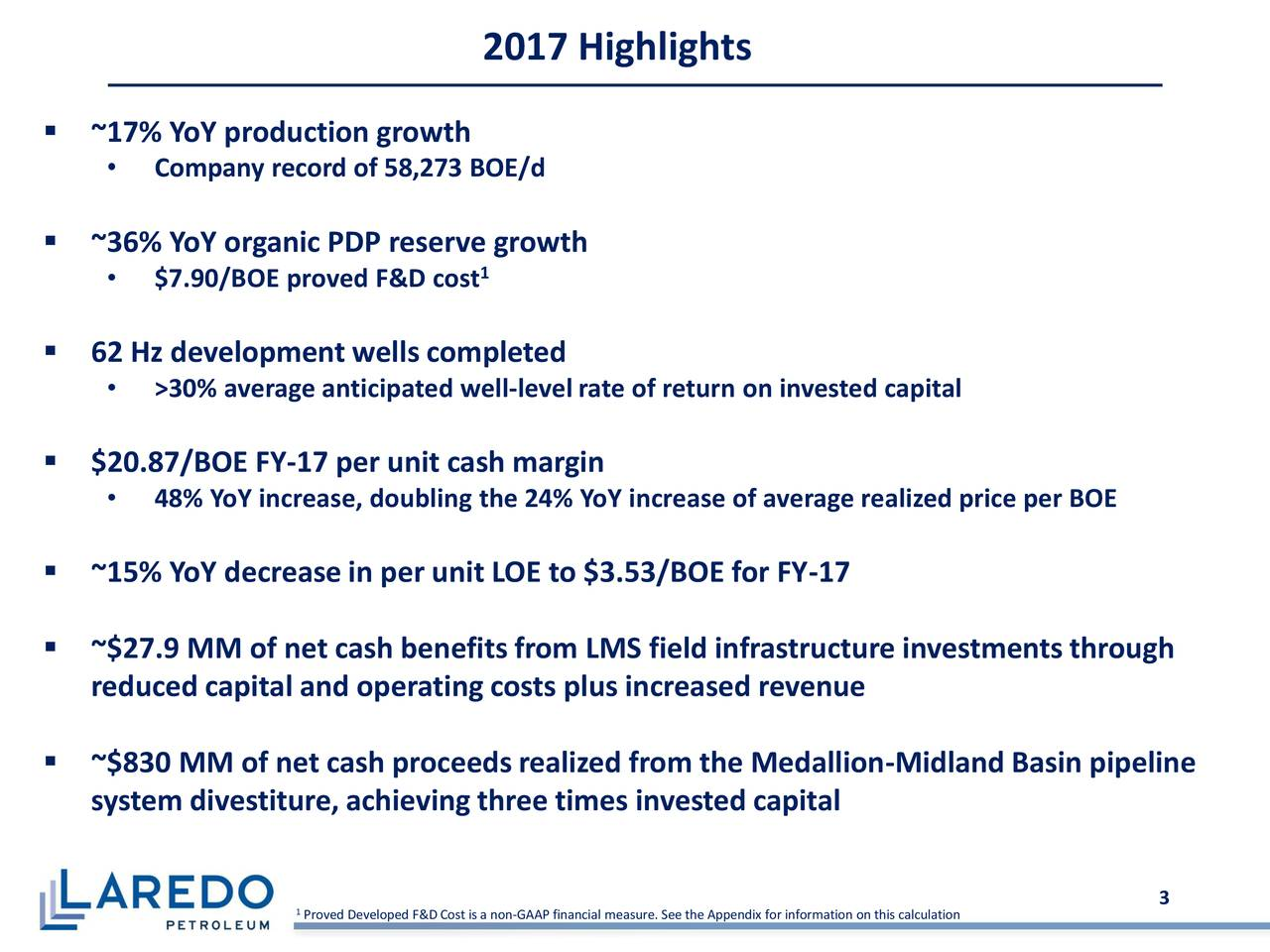 Laredo Petroleum Holdings Inc 2017 Q4  Results
