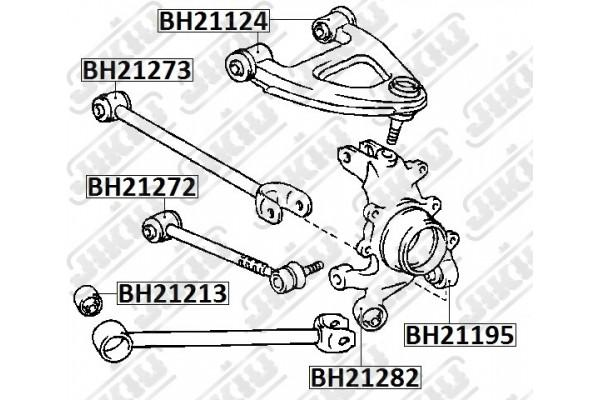 BH21195 BUSH JIKIU SUSPENSION REAR AXLE RH/LH RIGHT LEFT