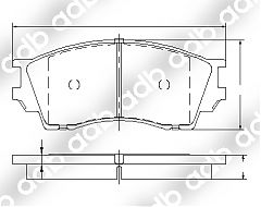 DB1326PM FRONT DISC PAD SET EUNOS 800 94-03 FORD COURIER 3