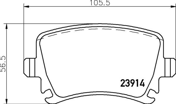 8DB 355 010-601 DISC PAD SET REAR PREPARED FOR WEAR