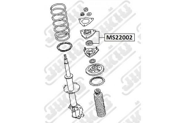 MS22002 BUSH JIKIU 802 122 TOP STRUT MOUNT FRONT NISSAN