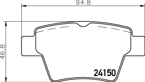 8DB 355 011-821 DISC PAD SET REAR NOT PREPARED FOR WEAR