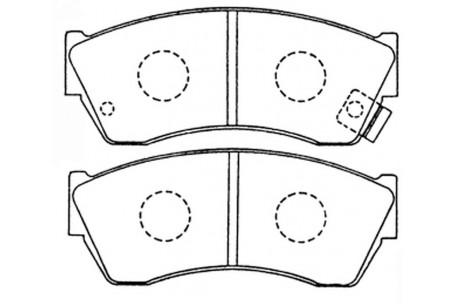 PN9169 DISC PAD SET NiBK JNBK FRONT KIT DB1155 Suzuki