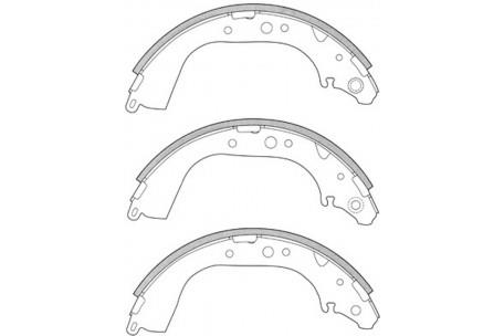 11525.505 REAR BRAKE SHOE SET (SET OF 4 SHOES) FOR TOYOTA