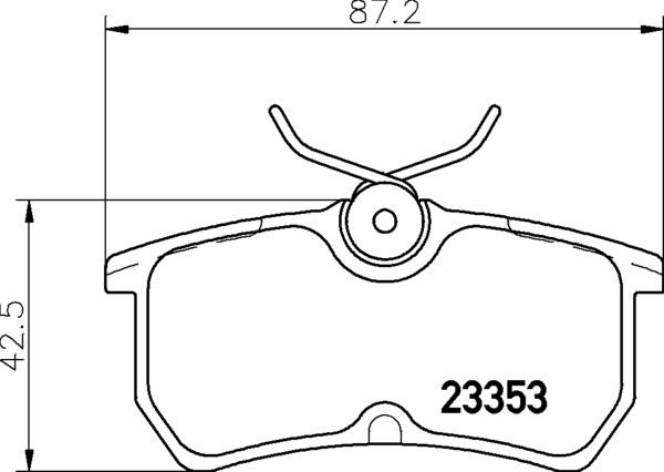 8DB 355 018-411 DISC PAD SET REAR NOT PREPARED FOR WEAR