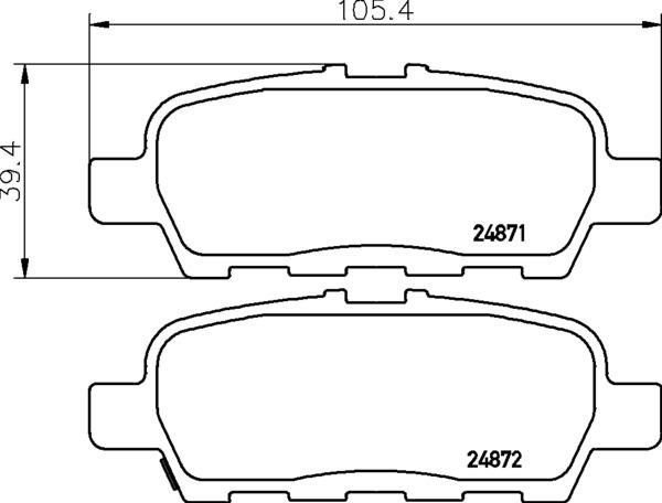 8DB 355 014-561 DISC PAD SET REAR WITH ACOUSTIC WEAR