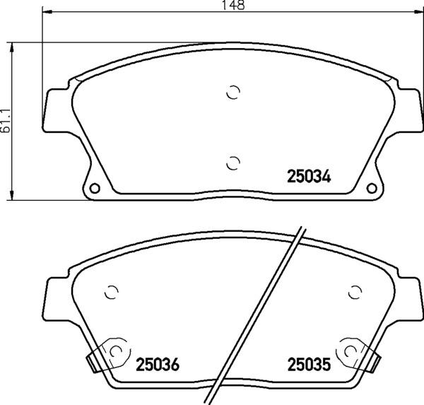 8DB 355 015-241 DISC PAD SET FRONT WITH ACOUSTIC WEAR